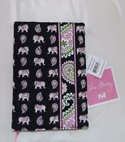 Vera Bradley Paperback Cover - Pink Elephants - Black - Brand With Tag