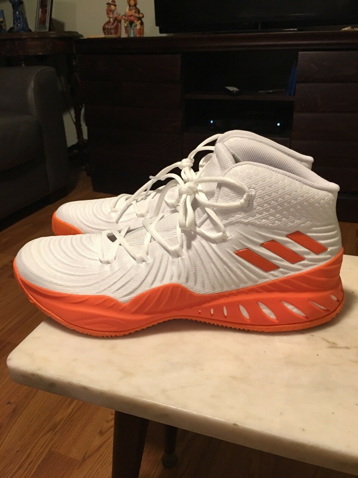 Brand New Adidas Crazy Explosive Men's Basketball shoes Sz 16 orange White Boost