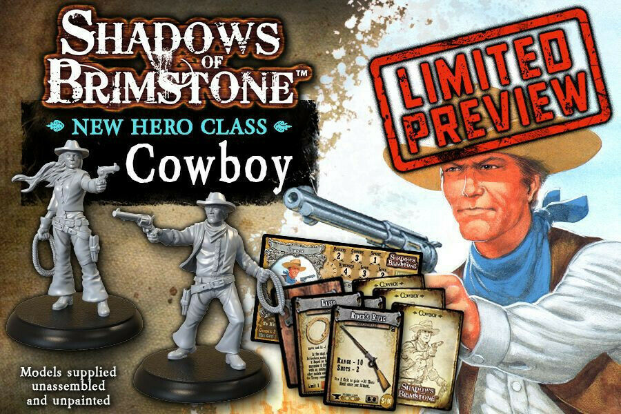 Shadows of Brimstone Cowboy Hero Pack preview - flying frog production (English)