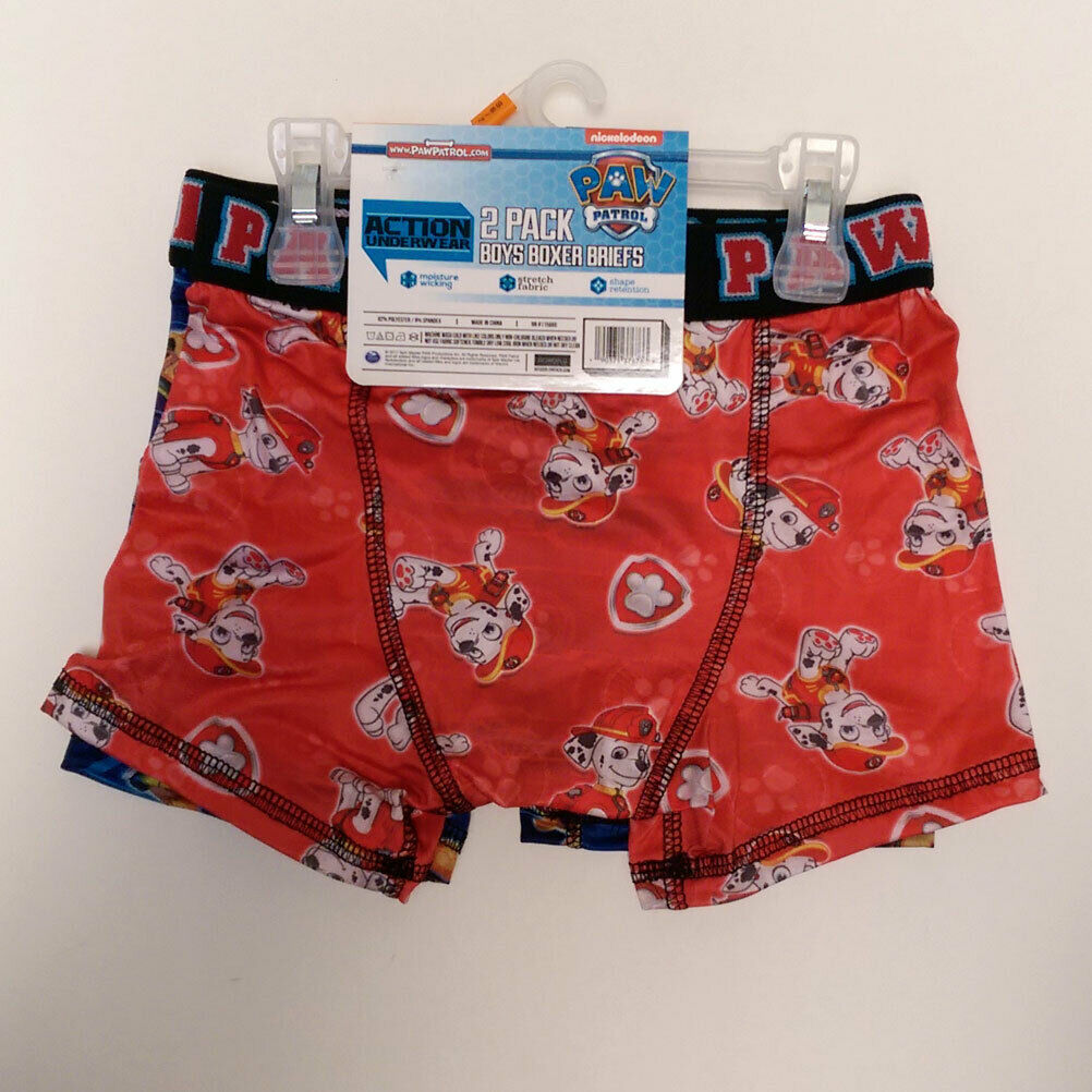 2-Pack Paw Patrol Boxer Briefs Size Small 6 Chase and Marshall Compression