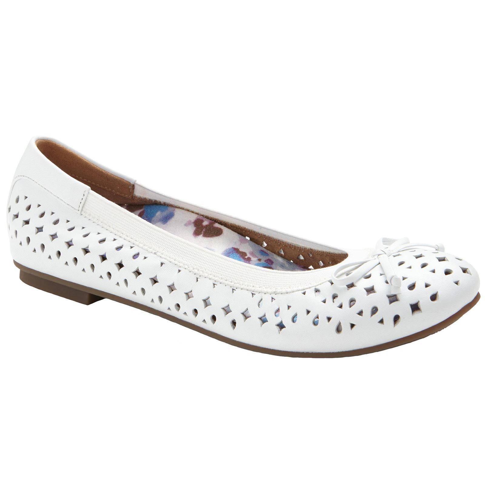 Vionic 359 Spark zapatos surin blanco mujer Leather ballet Flats bailarinas zapatos Spark 7a9f44