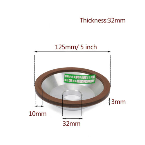 Resin Diamond Grinding Wheel Cup Carbide Grinder Cutter Sharpener 3 4 5 6 Inch