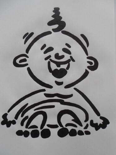 Schablone Baby für Textilg auf A4 und v.m