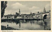 (435)  Ansichtskarte 97318 KITZINGEN  Main am Steigerwald Kind sitzt am Fluß