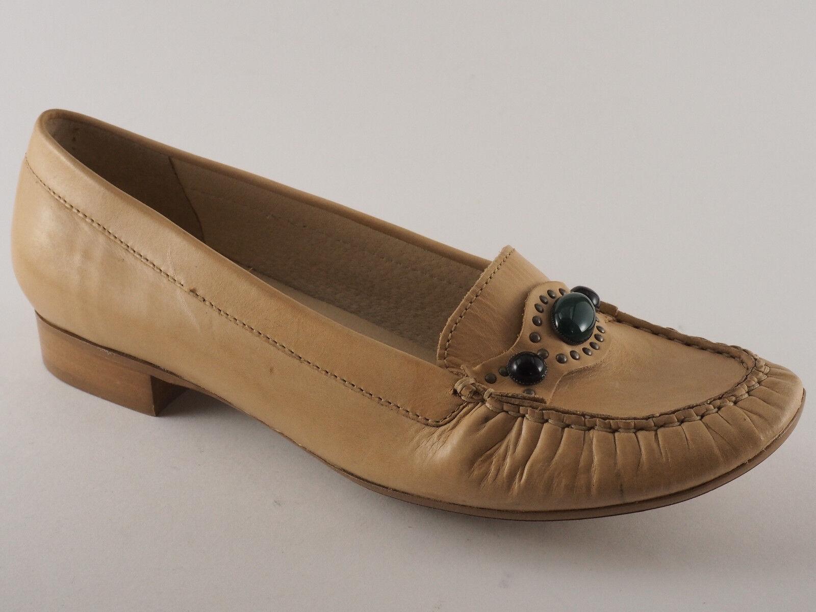 FIRETTI DAMEN BALLERINAS SLIPPER 38 39 39 38 40 41 SAND LEDER  Zapatos  HALB Zapatos  NEU 57a820