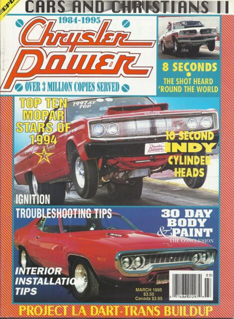Chrysler Power Magazine March 1995 30 Day Body & Paint 1969