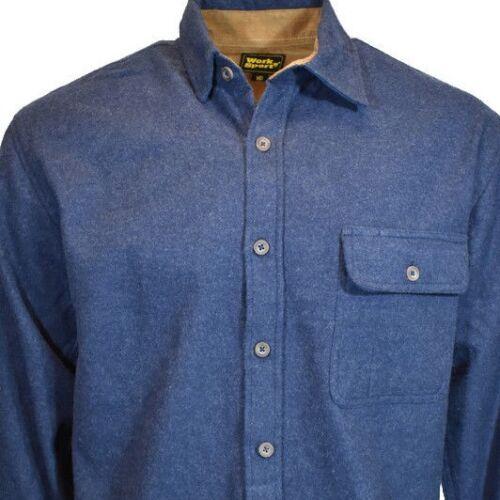 Work n Sport Mens Long Sleeve Flannel Button Up Down Shirt 100/% Cotton NEW