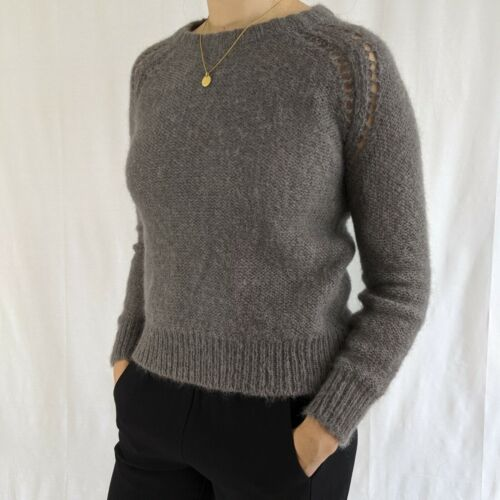 Oak + Fort grey fuzzy sweater