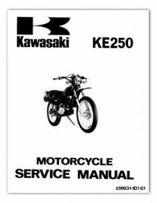 1977-1979 Kawasaki KE250 Motorcycle Service Manual | eBayeBay