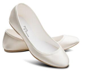 Avorio Damigelle D/'Onore Fiore Bambina Sposa Matrimonio Pompe Scarpe Basse Lucy