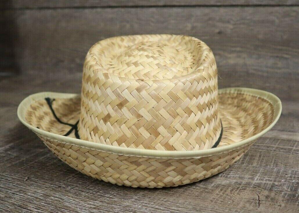 Vintage Pontiac Service Patch Straw Hat Cap Rare … - image 3
