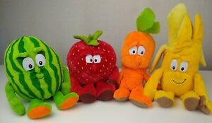 Goodness-Gang-Bundle-x4-Soft-Toy-Plushies-Watermelon-Banana-Carrot-Strawberry