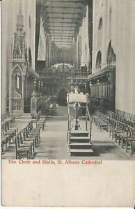 PC29407 The Choir and Stalls. St. Albans Cathedral. H. A. Richardson