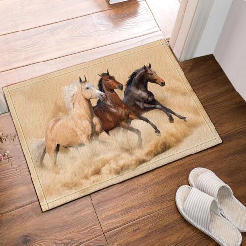 The Horse Theme Waterproof Fabric Home Decor Shower Curtain Bathroom Mat 352