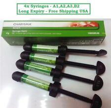 4x Syringe Of Heraeus Kulzer Charisma Smart Nano Composite 4g Refill A1a2a3b2
