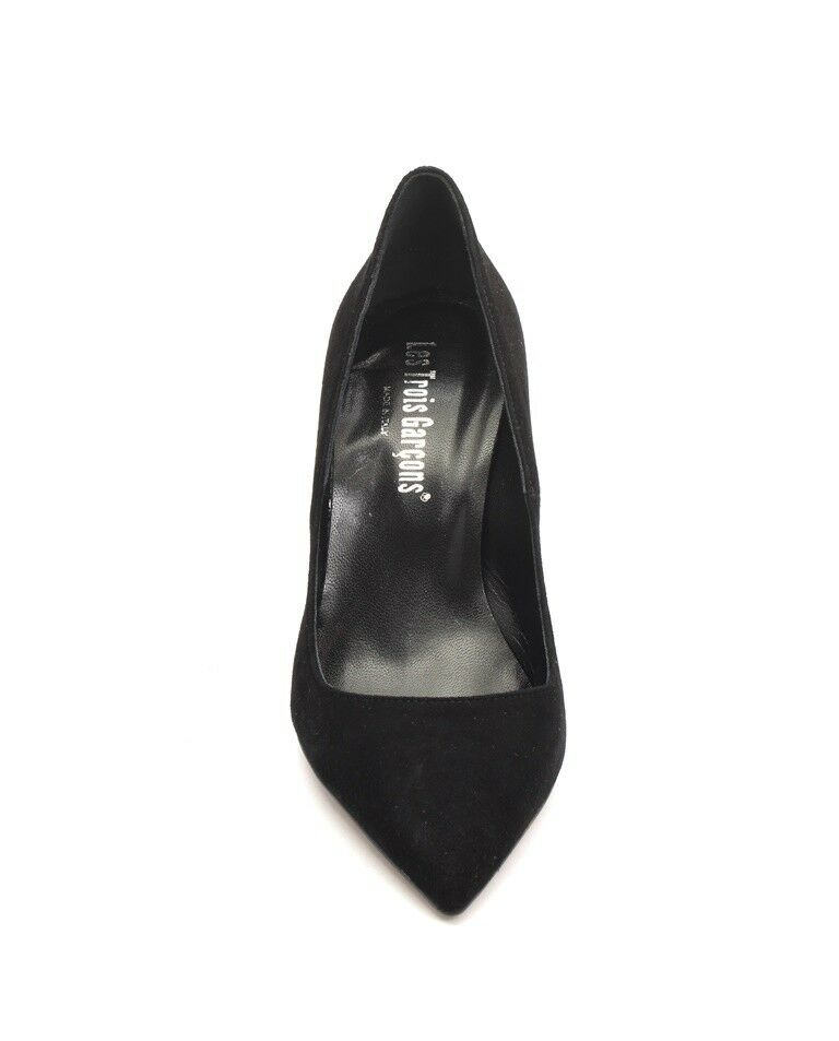 Les Trois Garcons 60540 Negro Gamuza Tacones Pointy Pumps Tacones Gamuza Zapatos 39 US 9 d8b7ad