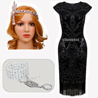Gatsby 1920's Flapper Dress Wedding Party Fringe Plus Size Vintage Style Dresses