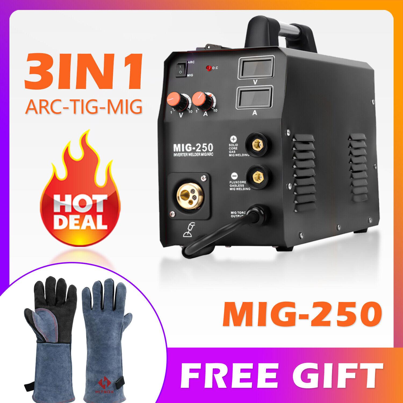 HZXVOGEN 3in1 ARC Lift TIG MIG Welder Gas Gasless MIG Welding Machine 200A 220V. Buy it now for 253.99