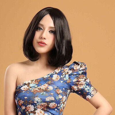 Charm Fashion No Bang Wig Short Smoothly Wavy Hair Cosplay Womens' Full Wigs