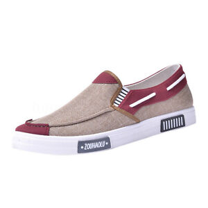 Men-039-s-Slip-On-Canvas-Loafers-Driving-Moccasin-Shoes-Flats-Sneakers-Breathable