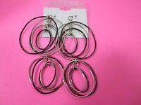 Double Hoop Earrings 3 1/2 Long