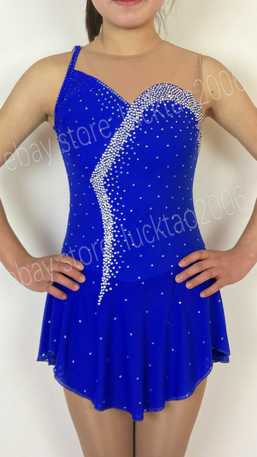 New style Gymnastics Dance Figure skating Ice Skating Dress Sparkly S8802-2