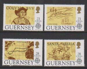 Guernesey-1992-Discovery-De-Amerique-Par-Columbus-Ensemble-MNH-Sg-556-9