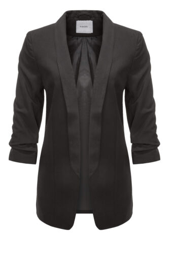 Pieces Damen Blazer Anzugjacke Business Leichte Jacke Übergangsjacke Damenmantel