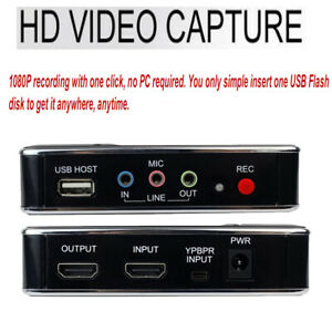 HD Video Game Capture Box Card HDMI 1080P Recorder Device for XBox One 360 PS2~4