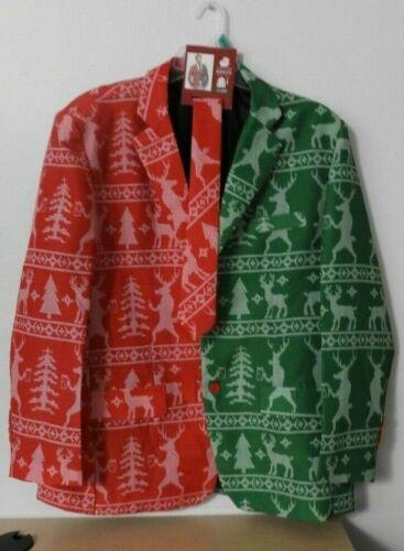 REINDEER Throwing Snow CHRISTMAS BLAZER /& TIE Men/'s Size XL 46//48 NEW W//TAGS!