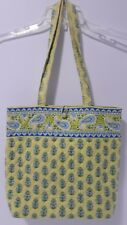 7ec658cc13 item 1 Vera Bradley Medium Tote Bag Citrus Lime Green   Blue with Elephant  Floral Print -Vera Bradley Medium Tote Bag Citrus Lime Green   Blue with  Elephant ...