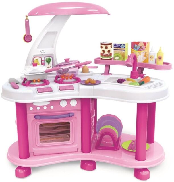 Kids Play Kitchen Set Children Food Cooking Pretend Oven Large Toy