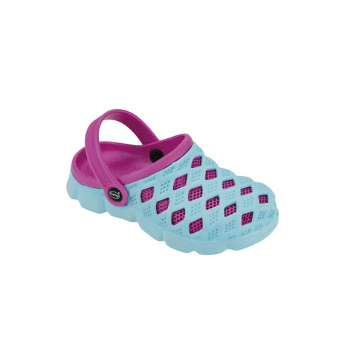 Farbe Kinder Badeschuhe fashy Clog Sephia blau-pink