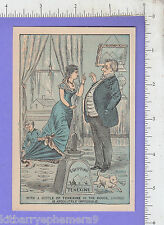 8348 Egyptian Tenexine glue divorce trade card Benjamin F. Bradbury stuck on you