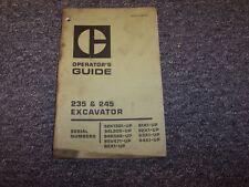 CAT CATERPILLAR 235 245 EXCAVATOR OPERATORS OPERATION GUIDE MANUAL BOOK