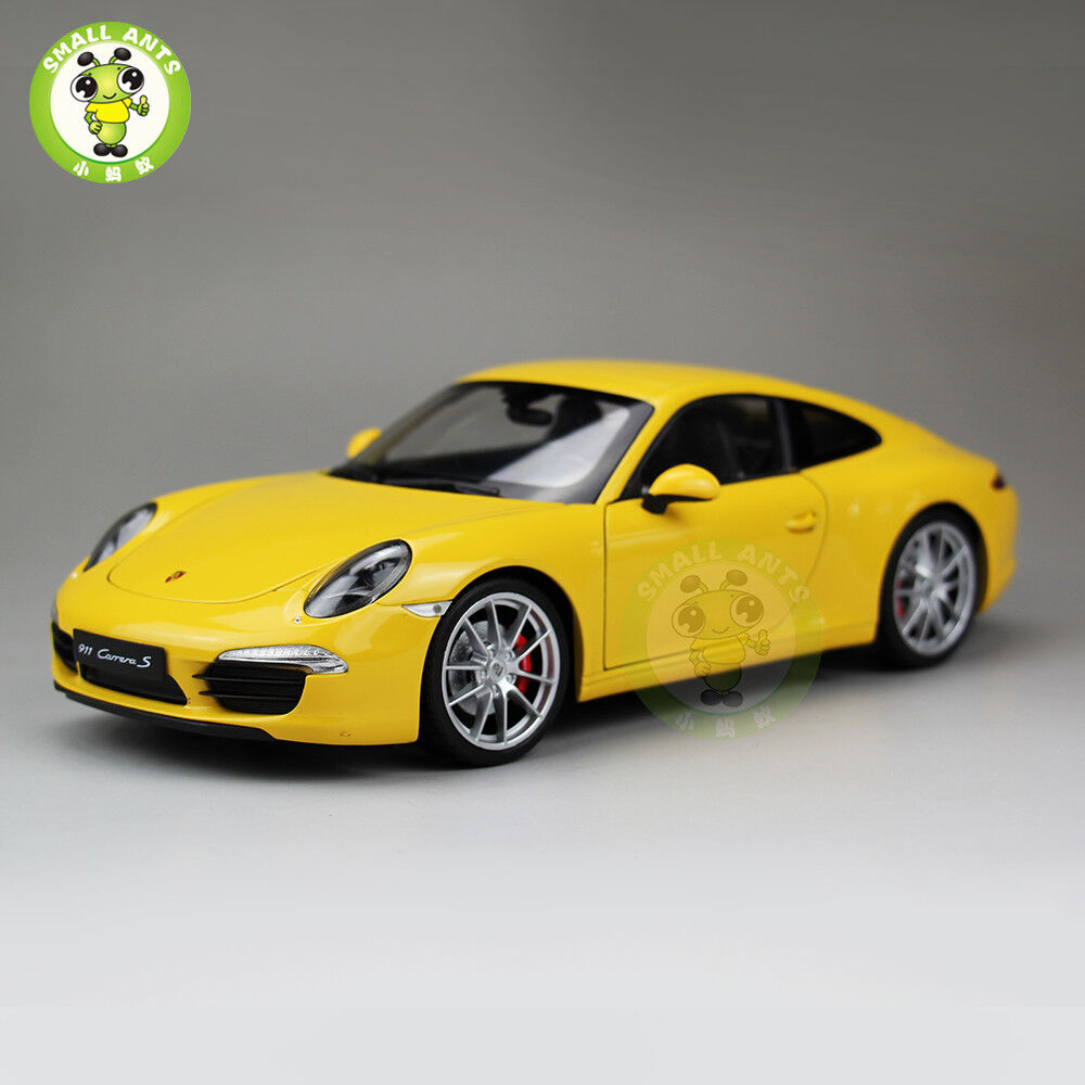1 18 Porsche 911 Carrera S Diecast Welly Car model Toy Gift 18047 Yellow