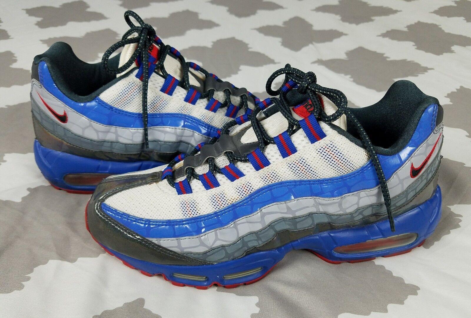 Nike Air Max 95 Transformers 2007 Uomo sz 9 Running Shoes 3m Alligator Print