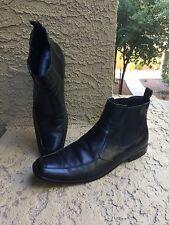 Mens Hugo Boss Black Leather Dress Boots Size 12