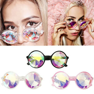 Rave-Kaleidoscope-Round-Rainbow-Glasses-Diffraction-Crystal-Lens-Sunglasse