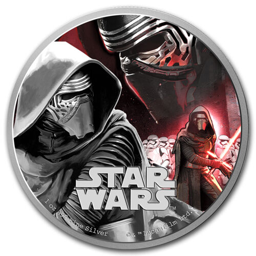 SKU #93615 2016 Niue 1 oz Silver $2 Star Wars Kylo Ren w//Box /& COA