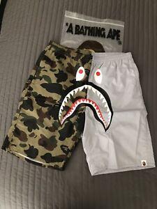 6c606ead3342 Image is loading Bape-1st-Camo-Shark-Beach-Shorts-XL
