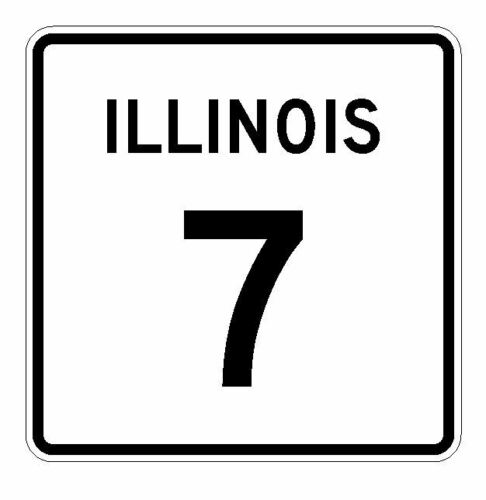 Illinois State Route 7 Sticker R4304 Highway Sign Road Sign Decal