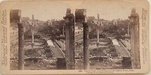 Forum-Roma-Capitol-Ruines-Italia-Foto-Stereo-Vintage-Albumina-1897