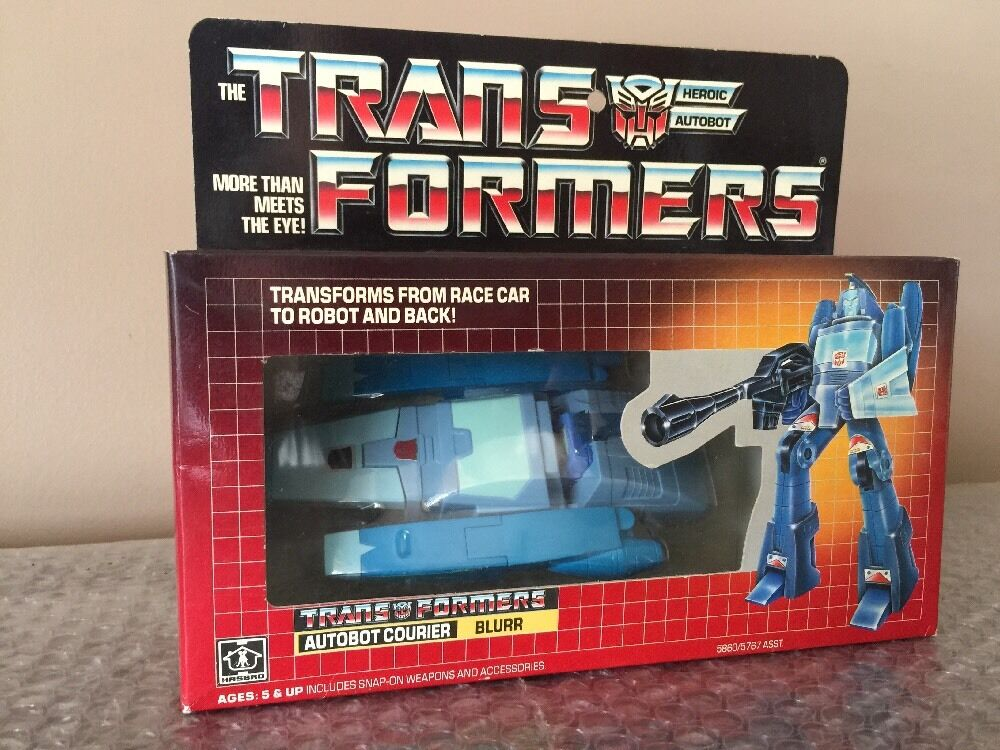 Vintage 1986 Hasbro G1 Transformers blueRR 100% Factory Sealed Beautiful Look