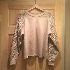 Starry Eyed Embellished Beaded Sweater Sweatshirt Asos Free Boho People Sequin