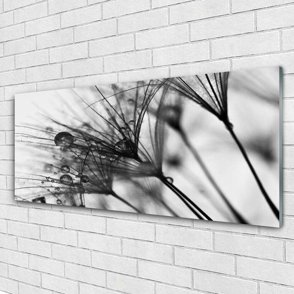 Tableau murale Impression sous verre 125x50 Floral Abstrait