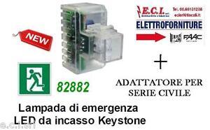 LAMPADA EMERGENZA INCASSO DA FRUTTO PER BTICINO AXOLUTE NERA HGmaMQ6v-07132749-633503353