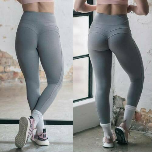 UK Women/'s Seamless Yoga Pants Leggings Gym Running Training Fitness Sports D15