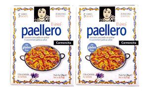 2x-Paella-PAELLERO-Gewuerz-20g-Carmencita-spanische-Gewuerzmischung-mit-Safran