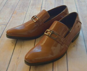 NICE-ITALIAN-STYLE-MENS-DRESS-CASUAL-SHOES-COLOR-BROWN-FINISH-EXCELLENT-QUALITY
